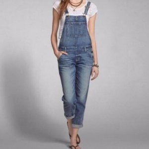 ABERCROMBIE & FITCH Denim Cross Back Overalls